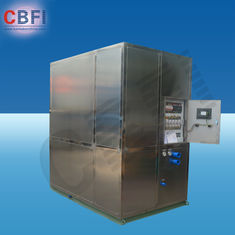 ประเทศจีน Cold Drink Shops Plate Ice Machine With PLC Central Program Control  โรงงาน
