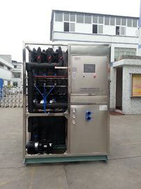 ประเทศจีน R22 / R404a Refrigerant Industrial Ice Maker Machine , Air Cooled Ice Maker โรงงาน