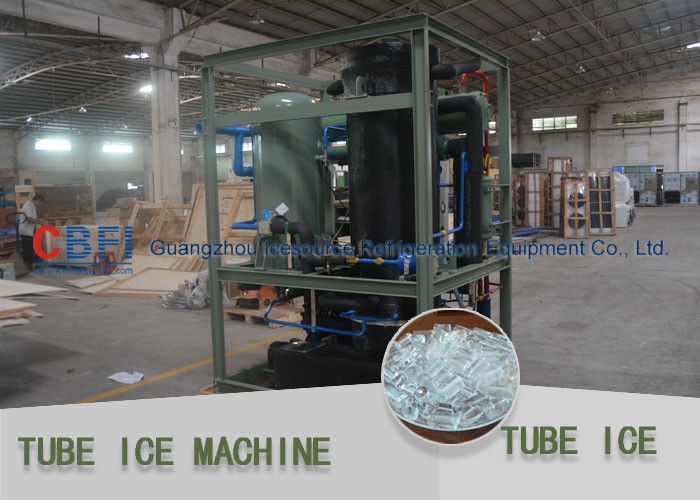 Crystal , Edible Ice Tube Making Machine With Stainless Steel 304 Evaporator ผู้ผลิต