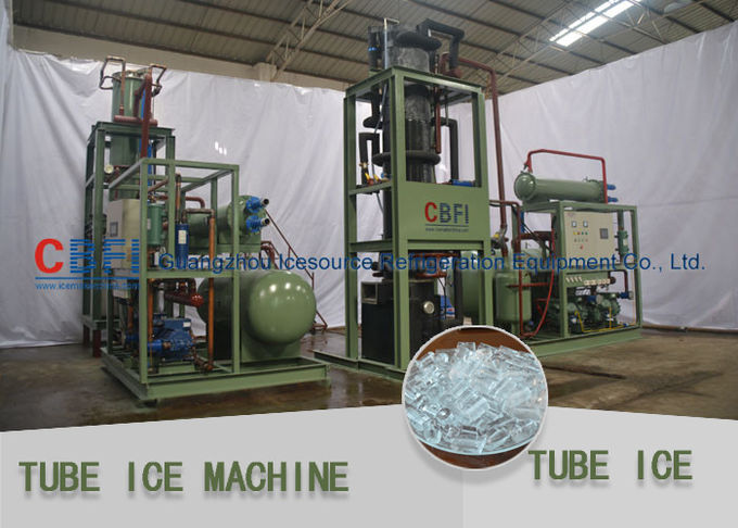 Crystal , Edible Ice Tube Making Machine With Stainless Steel 304 Evaporator